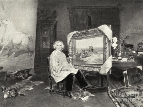 La prima pittrice con i pantaloni